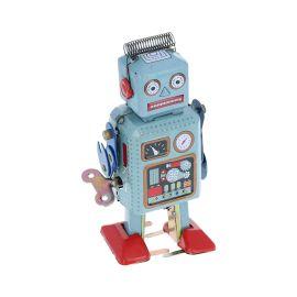 Petit robot marcheur vintage en métal