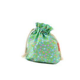 petit sac trésors fleurs vertes