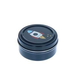 Petite boîte ronde métallique astro