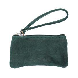 Petite pochette vert pailletée