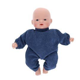 Petite poupée gaspard velours bleu