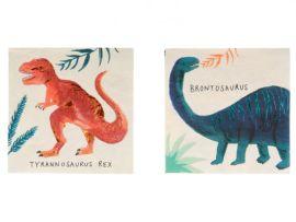 Petites serviettes en papier dinosaures