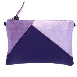 Pochette 3 matières violette