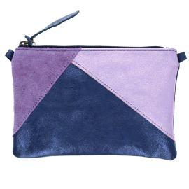 Pochette bleue et violette