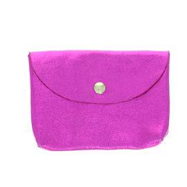 Porte carte cuir rose fuchsia