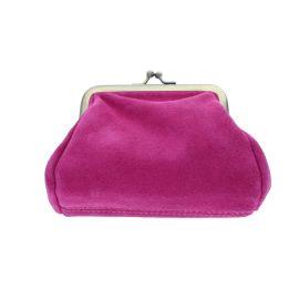 Porte-monnaie avec fermoir rose fuchsia