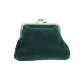 Porte monnaie avec fermoir vert émeraude