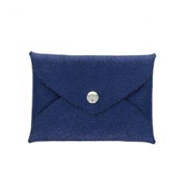 Porte-monnaie enveloppe bleu marine