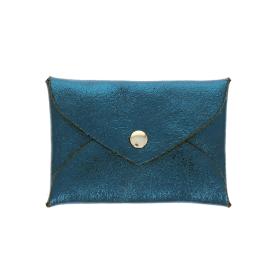 Porte monnaie enveloppe bleu