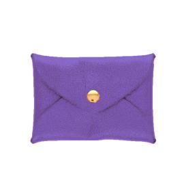Porte-monnaie enveloppe violet pailleté