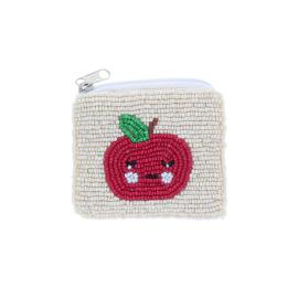 Porte monnaie sequins pomme