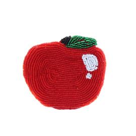 Porte monnaie sequins pomme rouge
