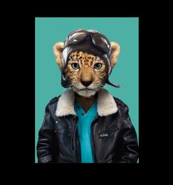 """Carte """"zoo portrait"""" Léopard"""