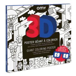 Poster Géant 3D Video game à colorier OMY