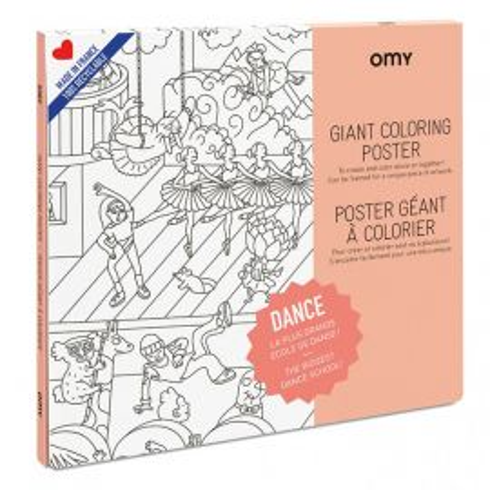 Poster géant Dance à colorier OMY