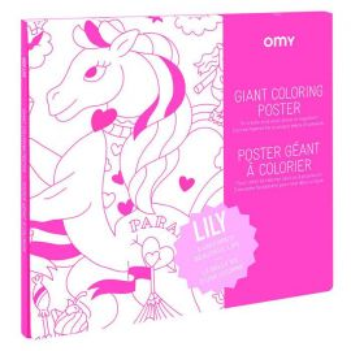 Poster géant Licorne àcolorier OMY