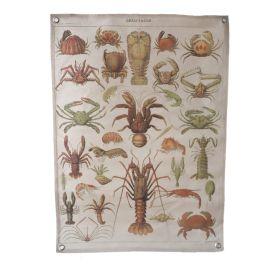 Poster en tissu crustacés