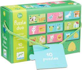 Puzzle duo Maison des animaux