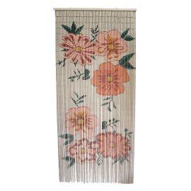 Rideau bambou fleurs