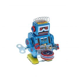 Robot batteur vintage en métal