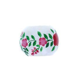 rond de serviettes fleurs roses