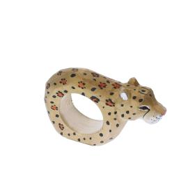 Rond de serviette en bois léopard
