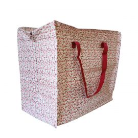 Jumbo bag fleurs roses