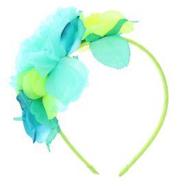 Serre-tête fleuri vert