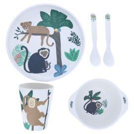 Set de vaisselle jungle