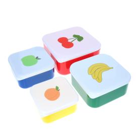 Set de 4 boites repas fruits