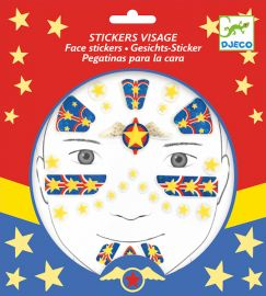Stickers visage Super-Heros