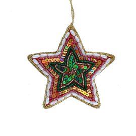 Suspension de Noël étoile multicolores