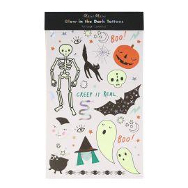 Tatouages ephemeres phosphorescents theme Halloween