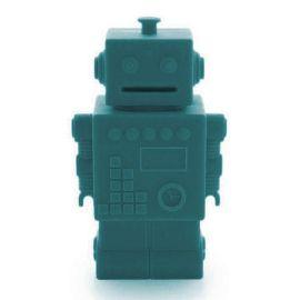 Tirelire robot Mr Robert bleu canard
