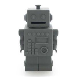 Tirelire robot Mr Robert gris
