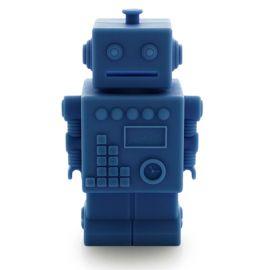 Tirelire Mr Robert robot bleu foncé