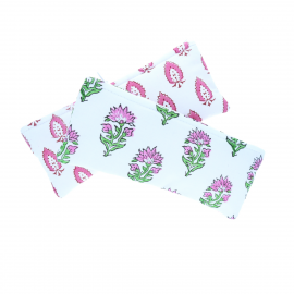 Trousse motif fleurs india