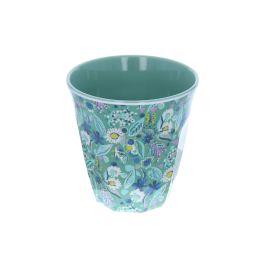 Verre mélamine fleurs bleues