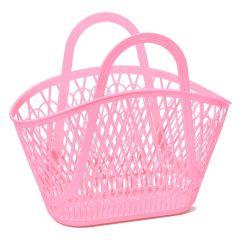 Grand panier en plastique rose