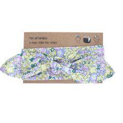 bandeau cheveux à fleurs jaune et lilas
